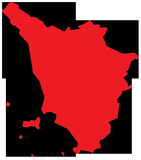 Map of Tuscany Region of Italy
